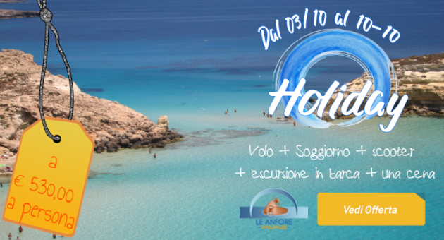 promo Lampedusa estate ottobre 2021